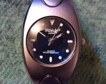 Rare Mondu Japan Titanium Eco Drive Unisex Watch