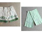His and Hers ~ 2 Sets of Mr & Mrs Embroidered Hand Towels