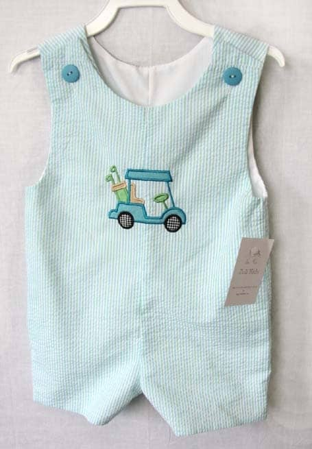 "Designer Baby Golf Gifts carries the cutest baby golfing outfits for those baby boys who are ""new to the tour."" We have elaborate embellishments on our baby outfits which are geared to inspire golf enthusiasts young and old."