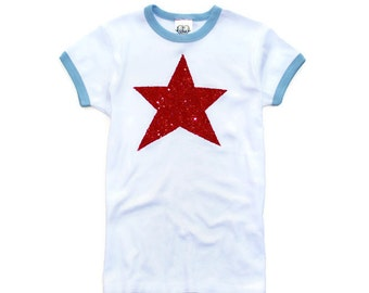 Outstanding 4Th Of July Shirt Sequin Red White And Blue Chevron Tee T Hairstyles For Men Maxibearus