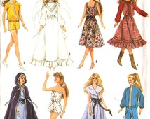 Simplicity 8333 Wardrobe for 11-1/2 Inch and 12 1/2 Dolls Such Dolls Such As Barbie and Darci