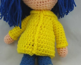 Crochet Coraline inspired doll made to order