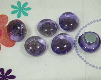 Lavender Decorative Pushpins or Refrigerator Magnets-Glass Dome Decor for Your Office School or Kitchen BUY 5 Sets GET the 5th FREE