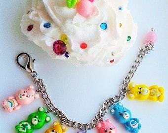 Care bears inspired charm bracelet