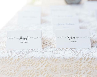 Wedding Place Cards, Wedding Escort Card, Rustic Place Cards - Rustic Chic, Table Cards, Custom Place Card, Simple Name Cards - Adventure