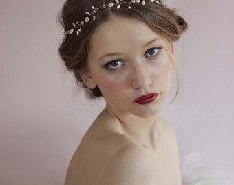 Wedding Hair Vine,Wedding Hair Halo,Wedding Pearl Headband,Wedding Hair Wreath,Bridal Pearl Hair Vine,Wedding Pearl Crown,Bridal Pearl Tiara