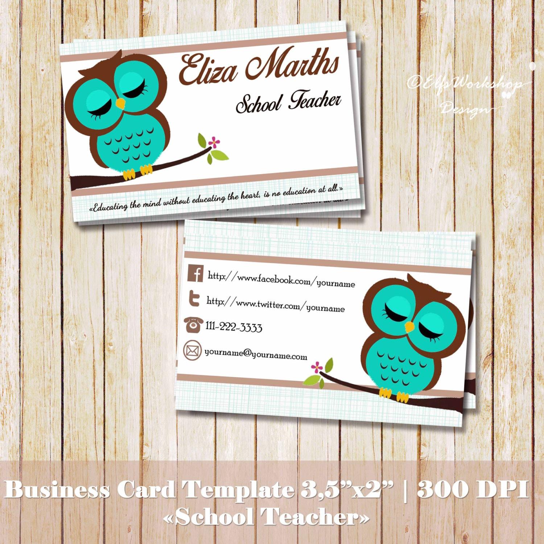 Business Card Teacher Business Card Design by ...