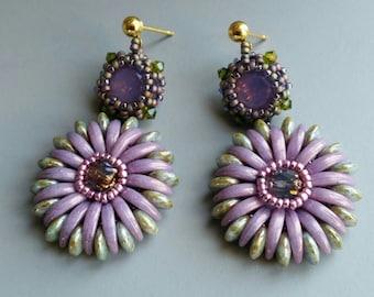 Chrysanthemum flower post earrings