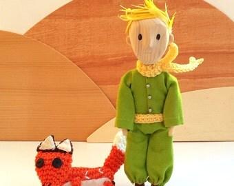 The Little Prince, wooden marionette,wooden toy, wooden figure, The Little Prince's book, fairy tale, Antoine de Saint-Exupéry