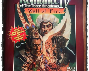 Romance of The Three KINGDOMS IV *Wall Of Fire* Official Strategy Guide Book * Original* 1996  Game Fun