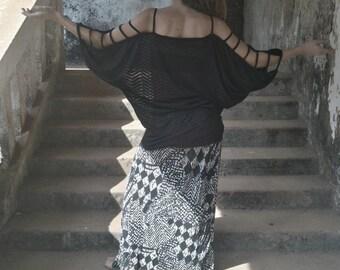 Top Bat >>> Unic Design Futurist Psytrance Post-apocalyptic Tunic Dress