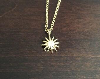 Sun Necklace, Sun, Gold Sun Necklace, Sun Jewelry, Sun Pendant, Necklace, Gold Necklace, Jewellery, Jewlery, Sun Jewlery, Sun Jewellery