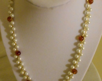 Pearl Amber Necklace