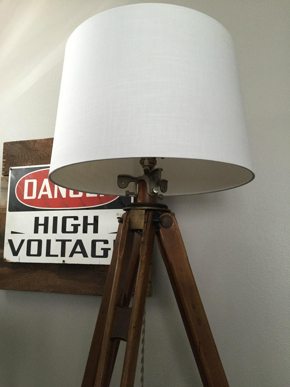 wooden tripod lamp vintage tripod stanley wood tripod. Black Bedroom Furniture Sets. Home Design Ideas