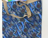 Dolphin tote bag; tote bag; shopping bag; library bag