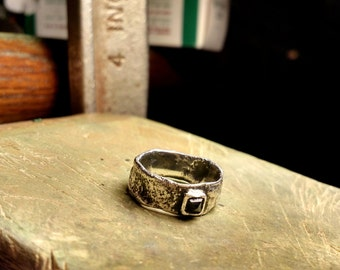 Textured Silver Band