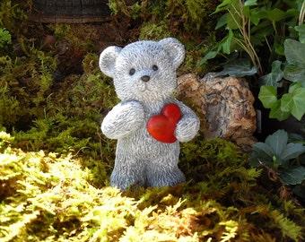 Teddy Bear Statue, Teddy Bear Memorial, Sympathy Gift, Child Loss Memorial  Gift,