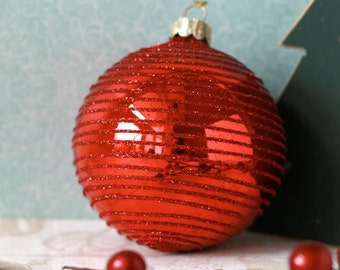 Red glass Christmas ornament decoration