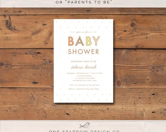 Neutral/Fall Colored Printable Baby Shower Invite