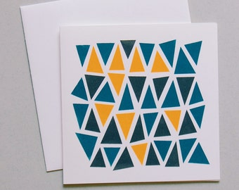 Hand screen printed greeting card