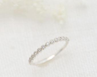 Platinum 950 diamond half eternity band, eternity ring, anniversary ring, diamond wedding band, bazel setting ring, dal-r105-1mm