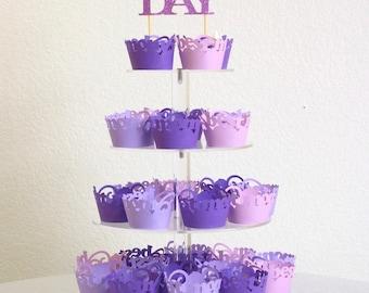 Purple Mother's Day Cupcake Kit