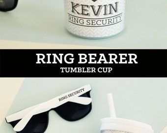Ring Bearer Gift Ideas Ring Security Badge Cup Ring Bearer Tumbler Ring Bearer Sippy Cup Ring Bearer Cup Ring Bearer Water Bottle (EB3158RB)