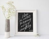 PRINTABLE Great Gatsby Quote Poster | Choose YOUR COLORS | I love her, and that's the beginning and end of everything | F. Scott Fitzgerald