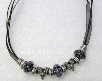 895 - Black Beaded Necklace
