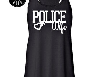 Police Wife police Girlfriend police officer Law enforcement Police mom police shirt police tshirt police LEO TANK TOP