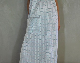 Midi Dress + Pocket + Side Splits + Pineapple +Racerback