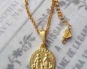 Necklace - Saintes Maries & Sainte Sarah - 18K Gold Vermeil - 17mm