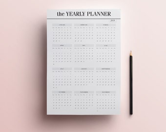 free printable yearly calendar 2018
