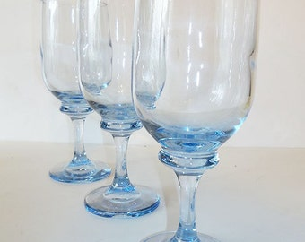 Blue Tinted Goblets