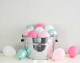 "5"" Mini Balloons - Mint & Pink // 12 Pack // Wedding - Birthday Decor // Small Tiny Latex // Blush Pink Mint Ivory Gold //"