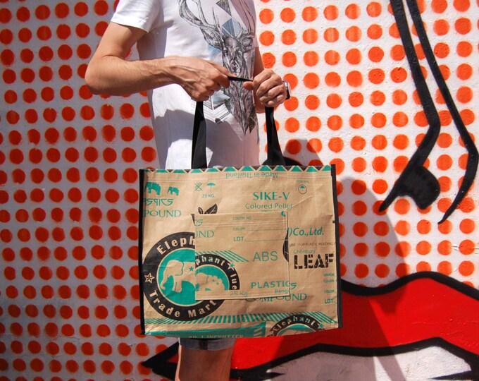 Market tote bag, hipster tote bag, eco friendly shopper bag, casual shopper, vegan bag, reused bag, recycled tote, shoulder bag, hand bag