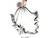 Custom Bride Illustration / Gift for Bride from Bridesmaid / Wedding Gifts for Bride / Bridal Shower Gift for Bride