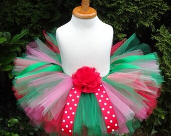 Christmas Tutu, Christmas Outfit, Red Green Tutu, Baby Tutu, Holiday Tutu, Red Tutu, Christmas Skirt, Toddler Christmas Outfit, Newborn Tutu