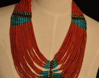 Nepali multi strand beaded necklace
