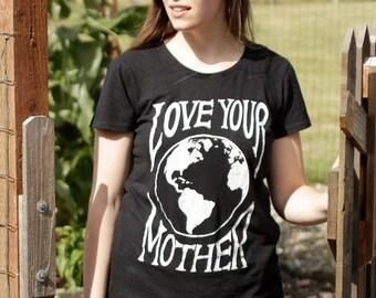 Women's Love Your Mother Hemp/Cotton Tee