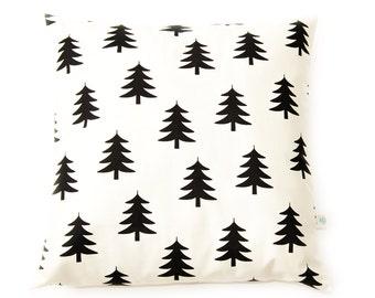 """Pillow cover """"Trees"""" Scandinavian spirit (black & white)"""