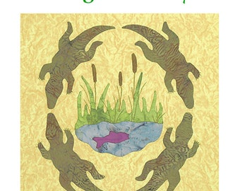 Alligator Alley Applique quilt pattern