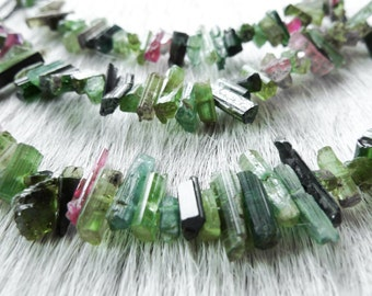 Watermelon Tourmaline necklace   Pink tourmaline necklace   Green tourmaline necklace   Tourmaline crystal necklace   Gift for her