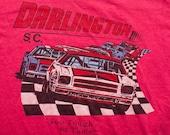 ADIDAS Darlington Raceway T-Shirt, M, Retro NASCAR Racing Tee, Vintage 80s