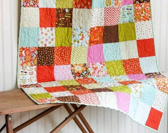 Sale - Baby Quilt - Wrens and Friends Baby Quilt - Crib Quilt - Small Lap Quilt - READY TO SHIP