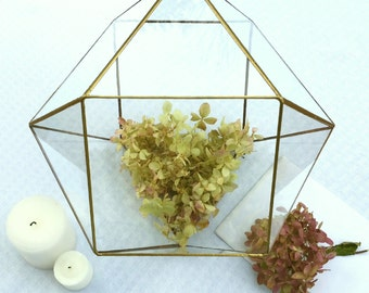 Wedding Envelope Holder , Geometric Terrarium , Glass Terrarium , Conservatory