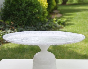 13 Inch Cake Stand Cupcake Stand White Shabby Chic Vintage Reclaimed Serving Platter