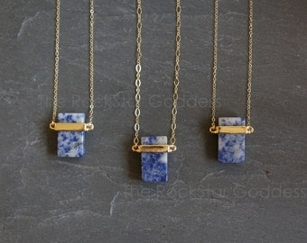 Sodalite Necklace / Sodalite / Sodalite Pendant / Layering Necklace / Blue Sodalite / Gemstone Necklace / Blue Stone / Mother's Day Gift