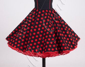50s petticoat dress black/red item: 4603