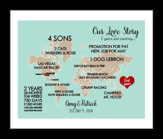 2nd Wedding Anniversary Gifts For Her Uk : 2nd anniversary gift 2nd wedding anniversary gift cotton 2nd ...